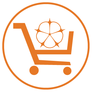 Organic cotton shopping cart